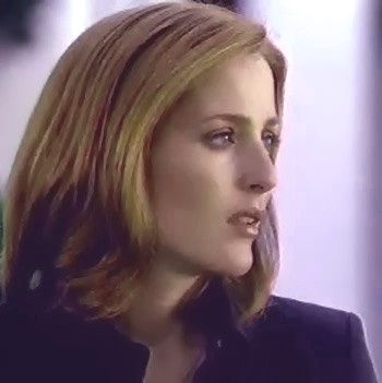 Scully wrinkled her brow focusing and straining her puffy, red eyes more intently.
